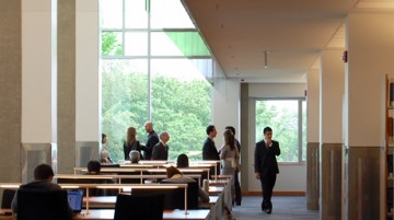 Photo of Tour in UBC Law Library's Reading Room