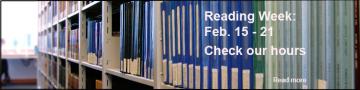 Reading Week 2015