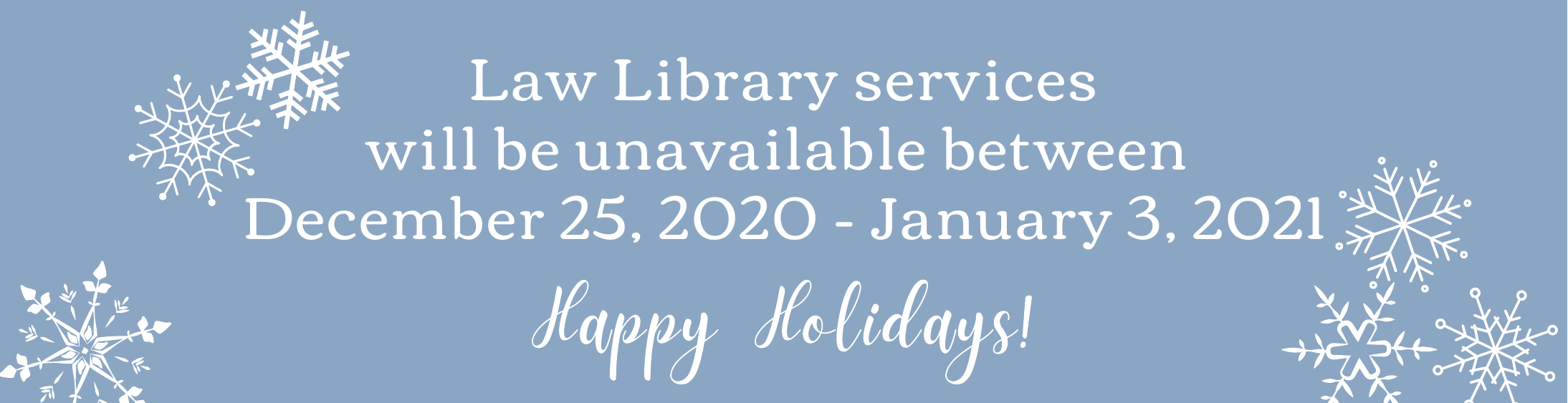 Law Library services available